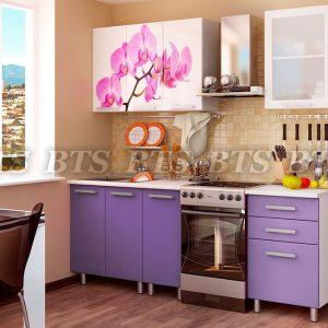 Кухня  Орхидея 1,6 (цвет: фиолетовый глянец)