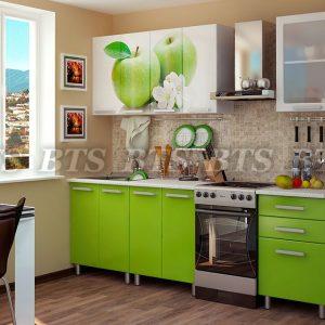 Кухня  Яблоко 1,8 ( цвет: лайм глянец)