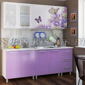 Кухня Люкс Ирис 2,0 (цвет: лиловый сад)