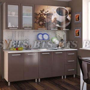 Кухня  Люкс Шоколад 2,0 (цвет: коньячный бриллиант)