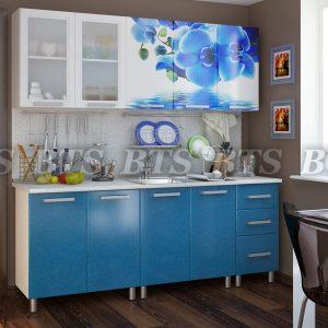 Кухня  Люкс Лазурь 2,0 (цвет: лазурное небо)