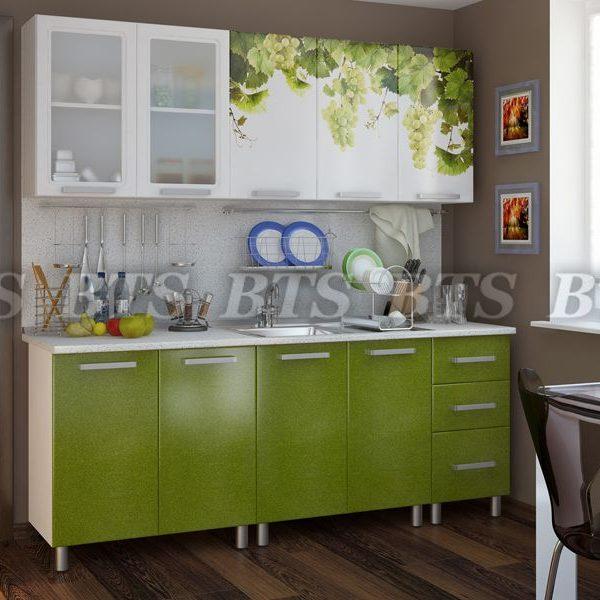 Кухня  Люкс Лоза 2,0 (цвет: зеленый лед)