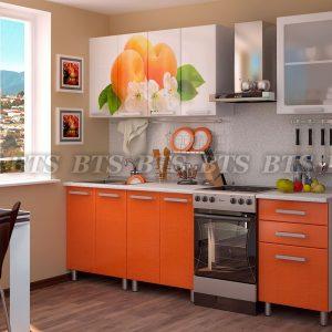 Кухня  Персик 1,8 (цвет: оранжевые блестки)