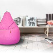 розовый бинбэг